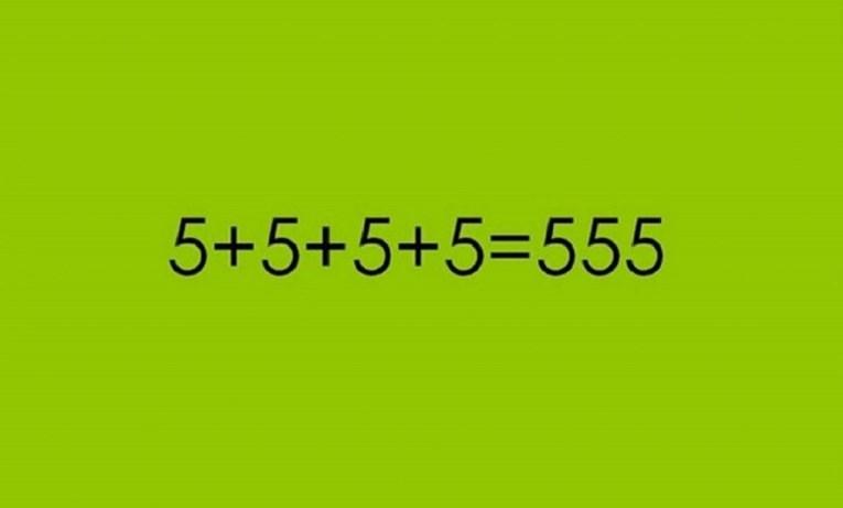 Mozgalica: Gdje u jednačinu treba dodati crticu da bude tačna?