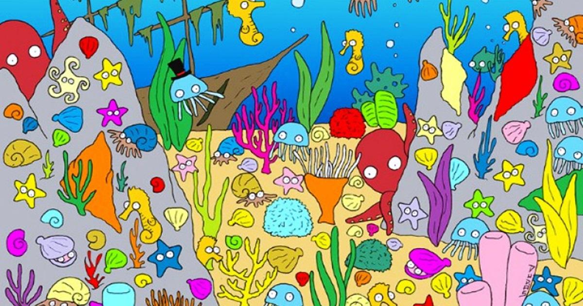 Test opažanja: Možete li pronaći ribu koja pliva u moru?