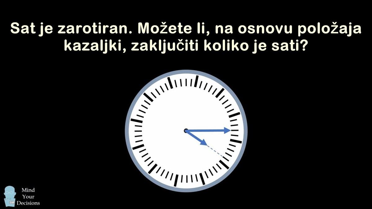 Koliko je sati? Pokušajte riješiti zadatak koji je mnoge namučio