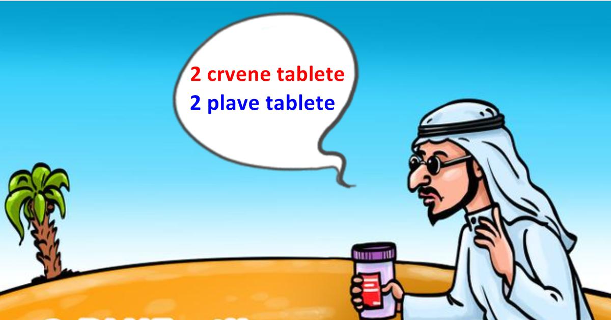 Mozgalica: Kako pomoći slijepcu da popije tablete odgovarajuće boje?