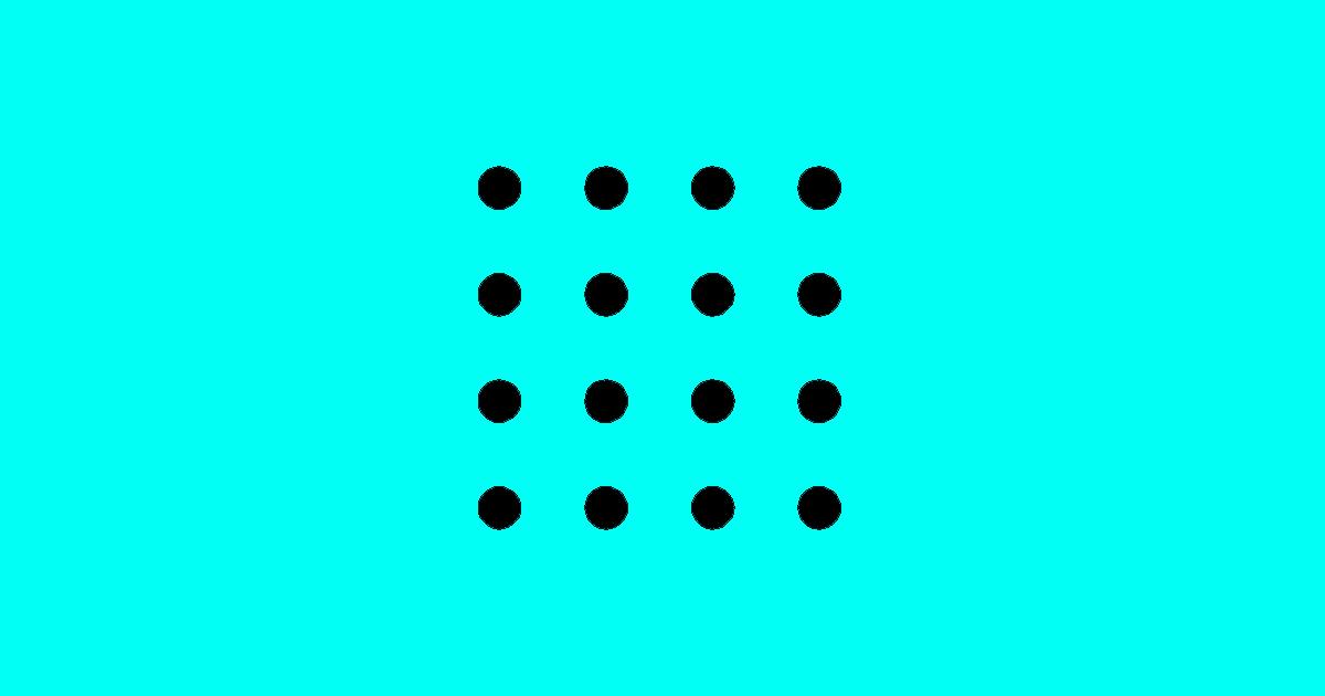 Nije nimalo lako: Sa šest linija spojite ovih 16 tačaka
