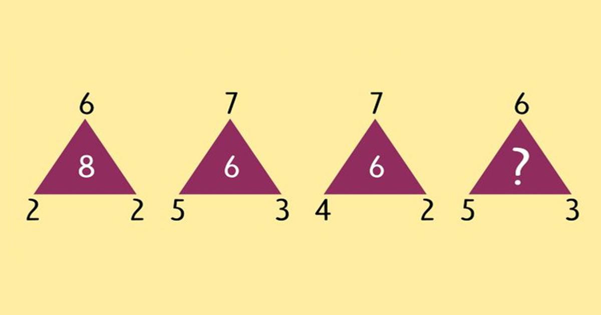 Zagonetka: Koji broj treba da se nalazi u posljednjem trouglu?