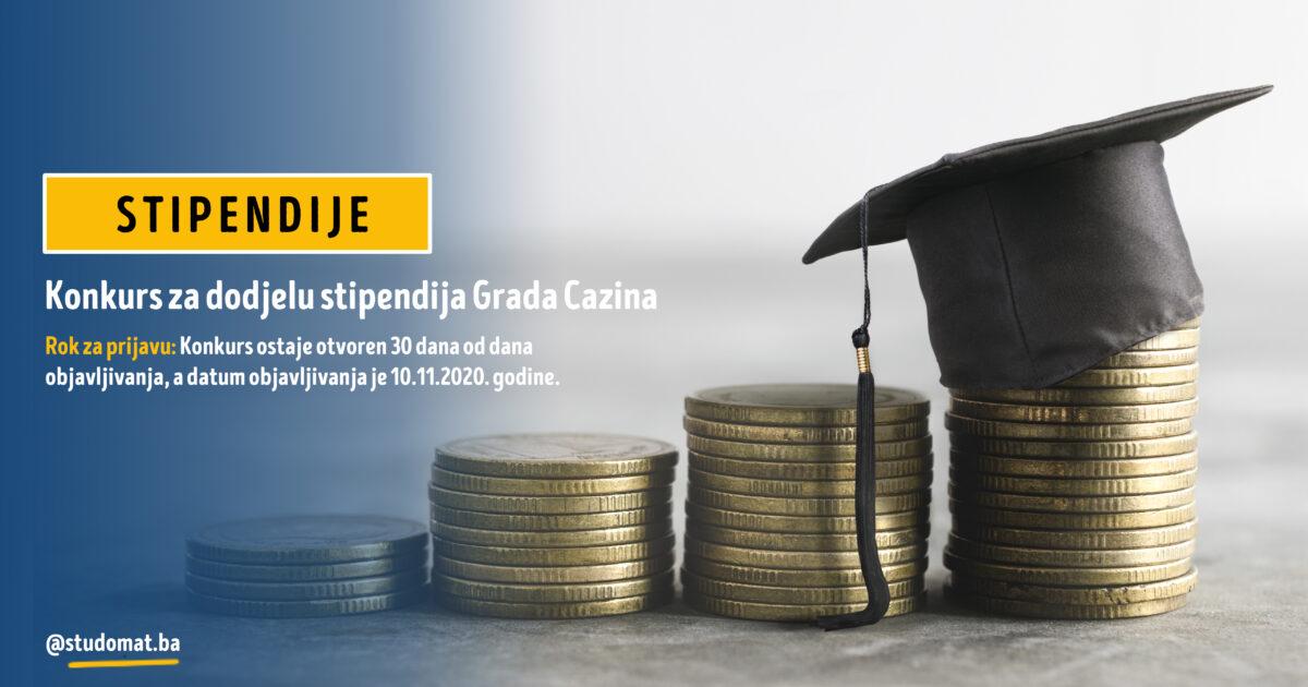 Grad Cazin: Konkurs za stipendije za akademsku 2020/2021. godinu