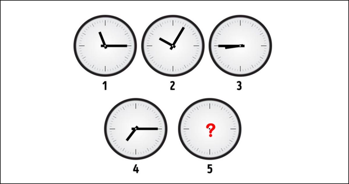 Mozgalica: Koliko je sati na satu broj 5?