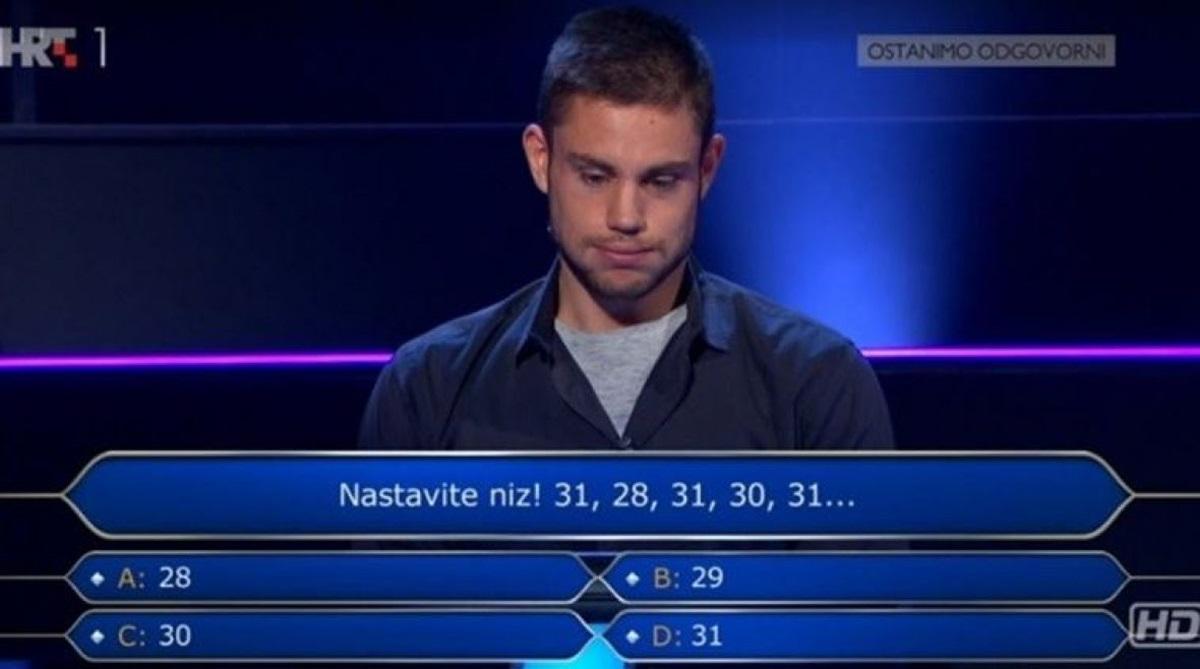 Takmičar u Milijunašu zapeo na trećem pitanju: Znate li vi odgovor?
