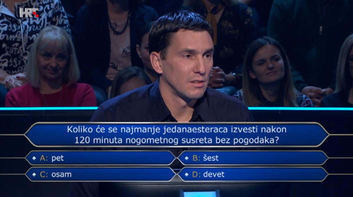 Takmičar ispao iz Milijunaša zbog pitanja o fudbalu na koje skoro svi znaju odgovor