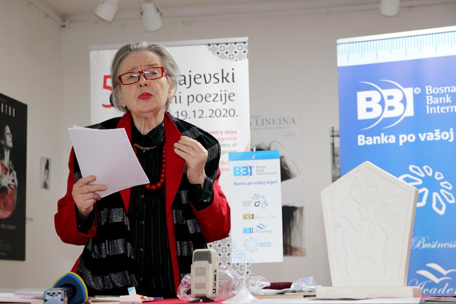"""BBI banka  sponzor nagrade Sarajevskih dana poezije """"Bosanski stećak"""""""