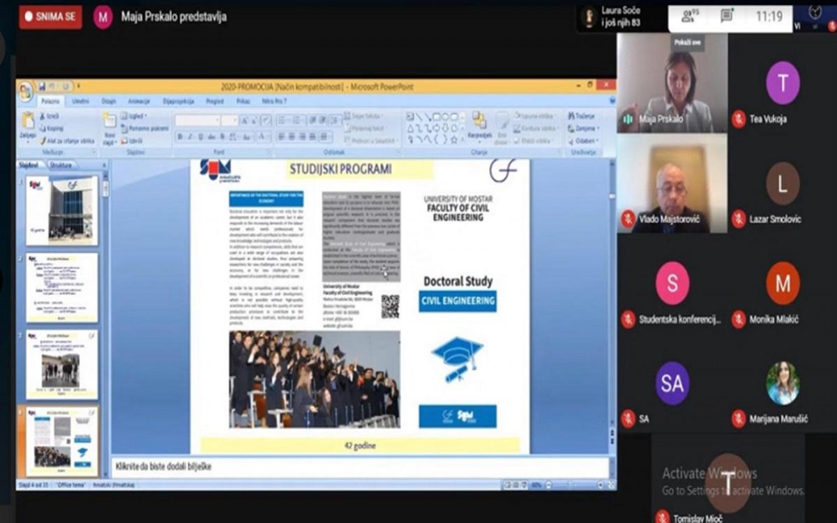 Održana online konferencija s ciljem okupljanja perspektivnih studenata i mladih ljudi