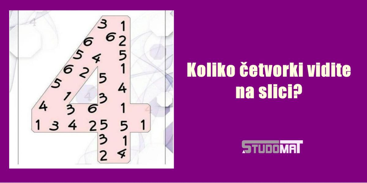 Varate se ako mislite da je jednostavno: Koliko četvorki vidite?
