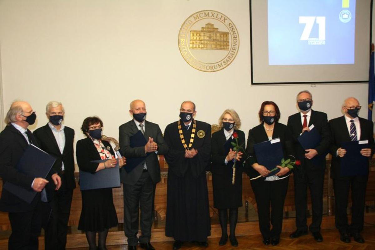 Promovirani profesori emeritusi Univerziteta u Sarajevu