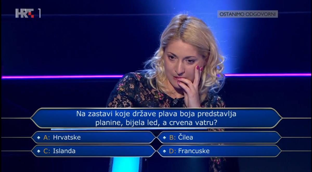 """Takmičarka """"zapela"""" na 5. pitanju u Milijunašu: Znate li vi odgovor?"""