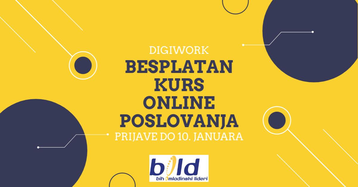 Prijavite se na Digiwork, besplatni kurs online poslovanja