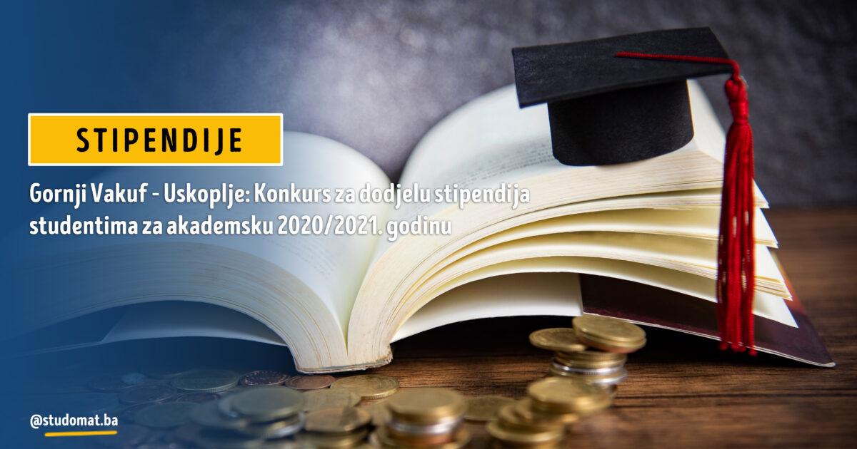 Gornji Vakuf – Uskoplje: Konkurs za dodjelu stipendija studentima za akademsku 2020/2021. godinu