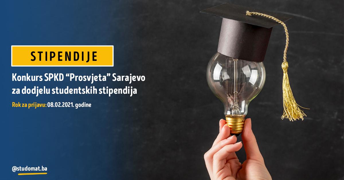 """Konkurs SPKD """"Prosvjeta"""" Sarajevo  za dodjelu studentskih stipendija"""