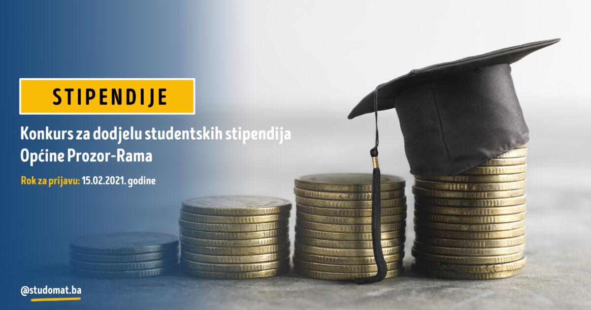 Općina Prozor-Rama: Konkurs za dodjelu studentskih stipendija u akademskoj 2020/2021. godini