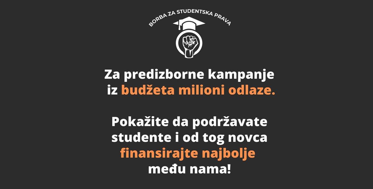 UNSA: Studenti nastavljaju borbu za smanjenje školarina i finansiranje najboljih studenata