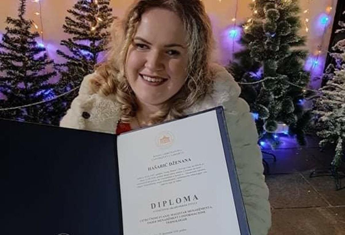 Dokaz da bolest nije prepreka: Dženana Hašarić koja boluje od cerebralne paralize završila fakultet i master studij