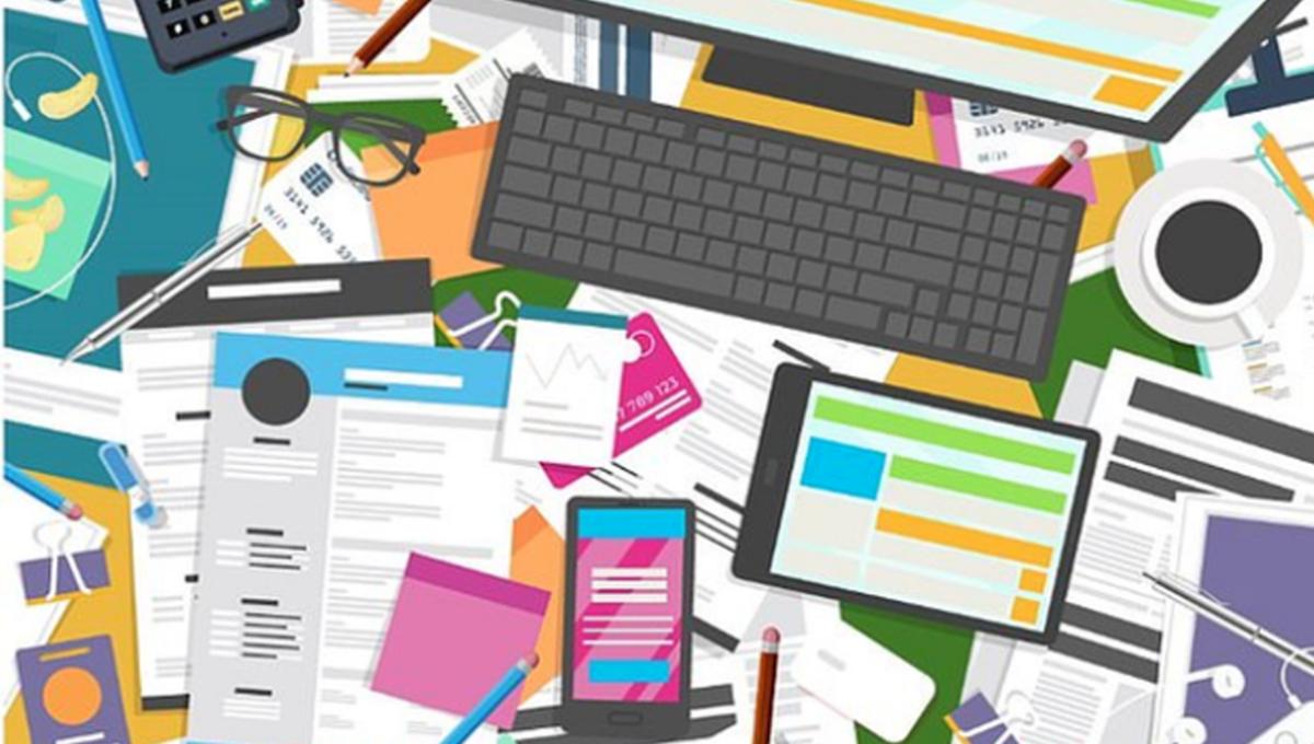Kreativni nered: Možete li pronaći račun na radnom stolu?