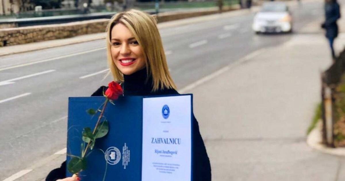"""Rijana Jusufbegović, dobitnica Zlatne značke UNSA: Studenti nisu """"kerovi"""""""