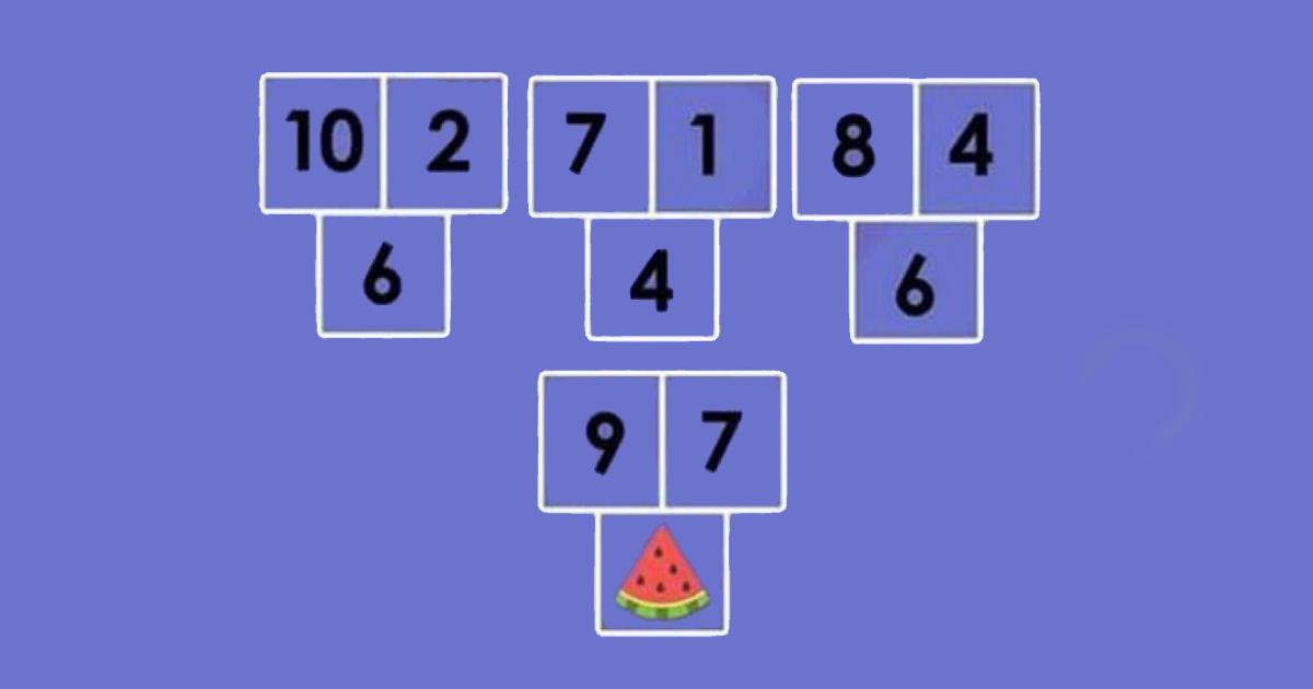 Mozgalica koju većina riješi krivo: Koji broj dolazi umjesto lubenice?