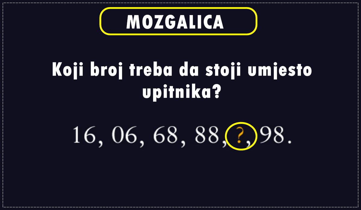 Mozgalica: Koji broj treba da stoji umjesto upitnika?