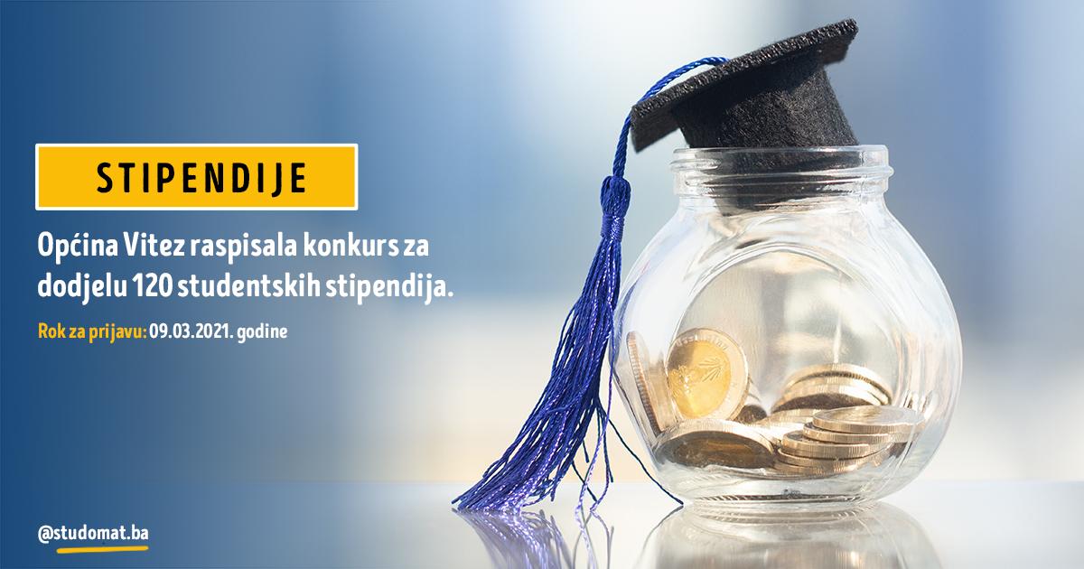 Vitez: Konkurs za dodjelu studentskih stipendija za akademsku 2020/2021. godinu