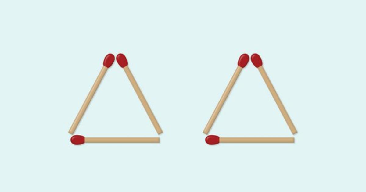 Mozgalica: Pomjerite samo jednu šibicu da dobijete četiri trougla