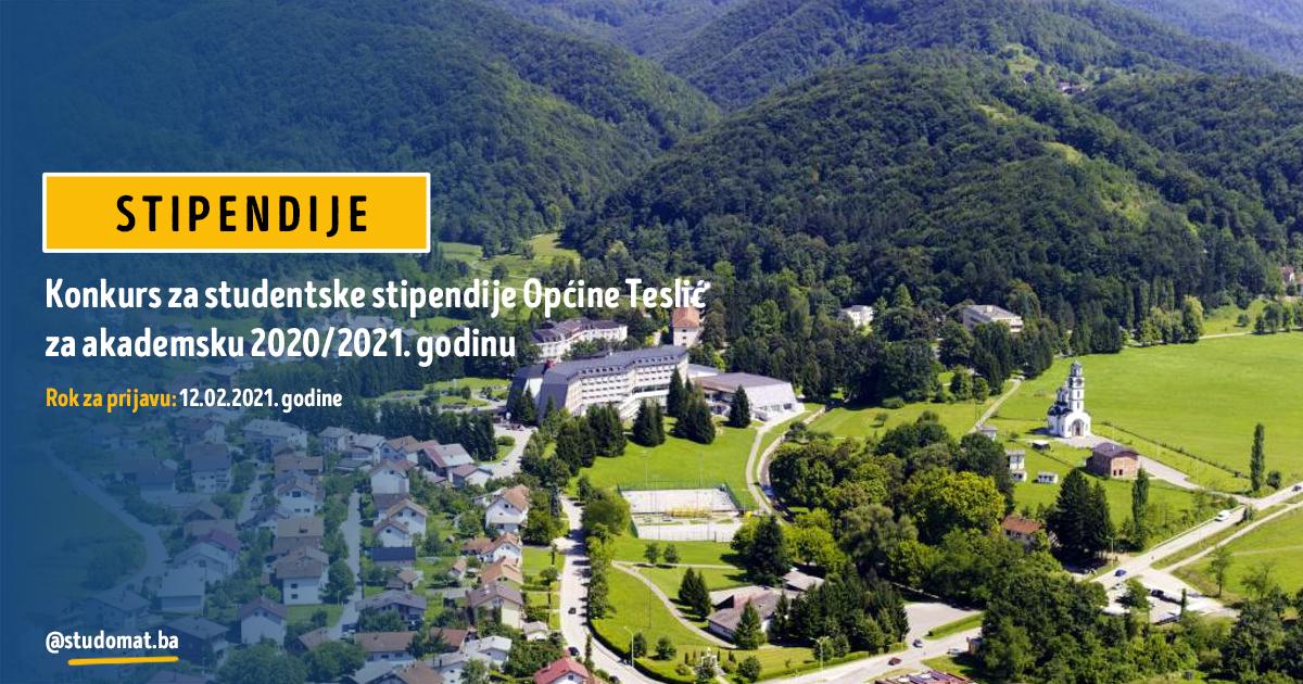 Konkurs za studentske stipendije Općine Teslić za akademsku 2020/2021.