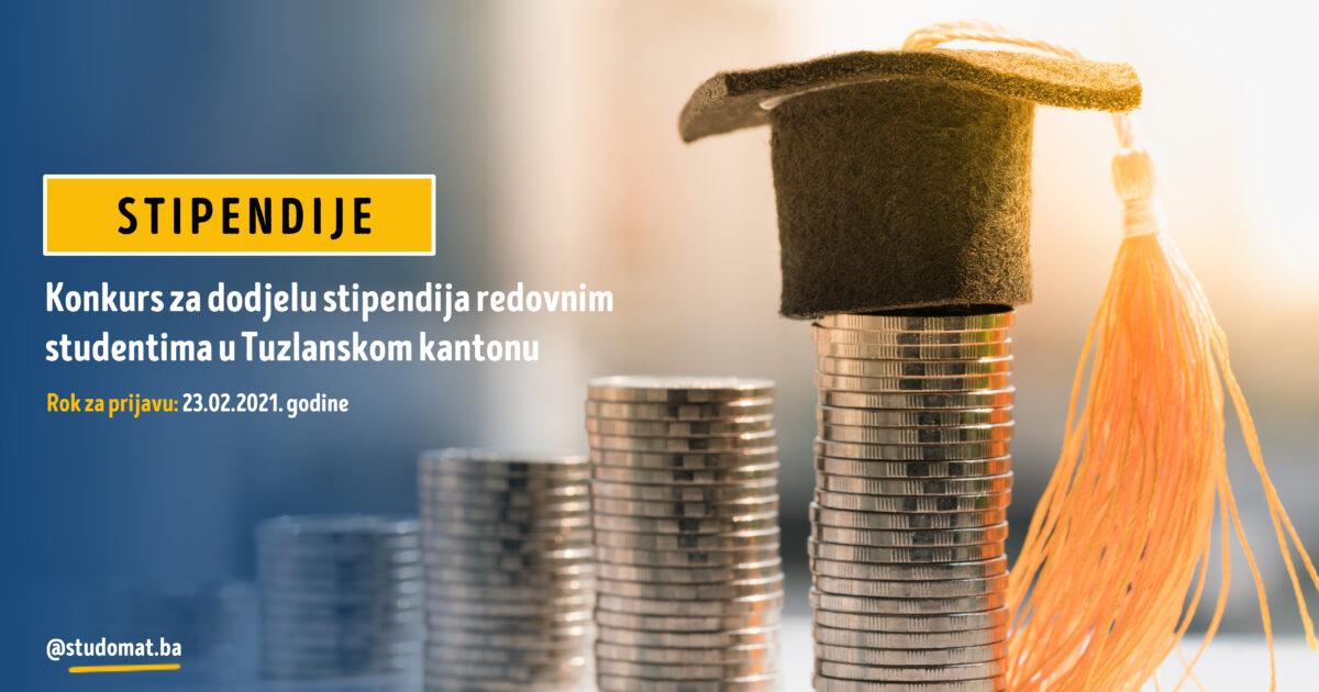 Konkurs za dodjelu stipendija redovnim studentima u TK