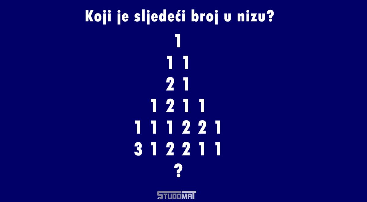 Zagonetka: Koji je sljedeći broj u nizu?