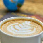 Coffee art close up