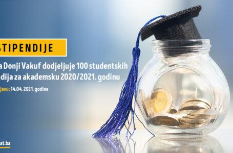 Općina Donji Vakuf dodjeljuje 100 studentskih stipendija za akademsku 2020/2021. godinu