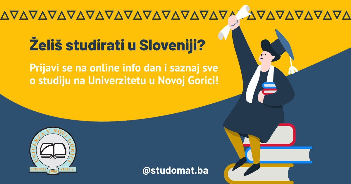 Želiš studirati u Sloveniji? Prijavi se na online info dan i saznaj sve o studiju na Univerzitetu u Novoj Gorici