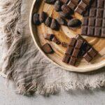 Dark chocolate with cocoa