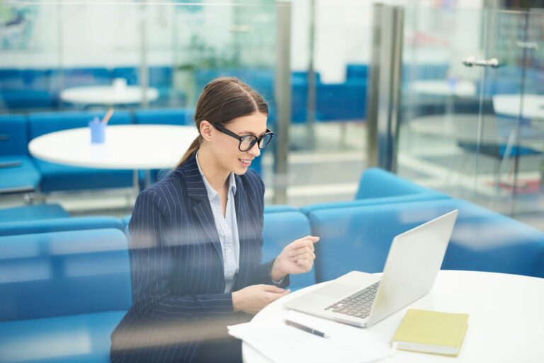 Young Businesswoman in Internship