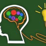 Brain and Lamp idea innovation sign concept idea is begin