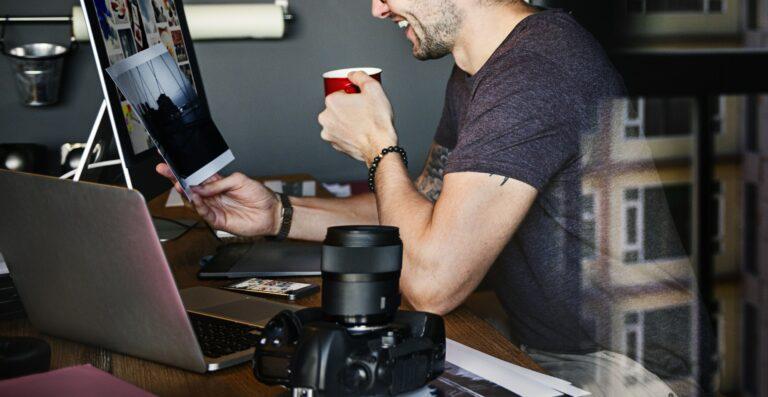 Photographer Journalist Working Studion Agency Concept