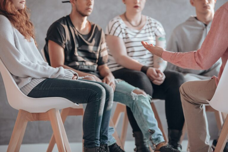 Rebellious youth at psychotherapy