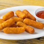 Mozzarella sticks with chili sauce