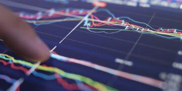 Stock market data on tablet computer