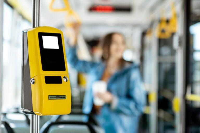 Ticket machine in the tram