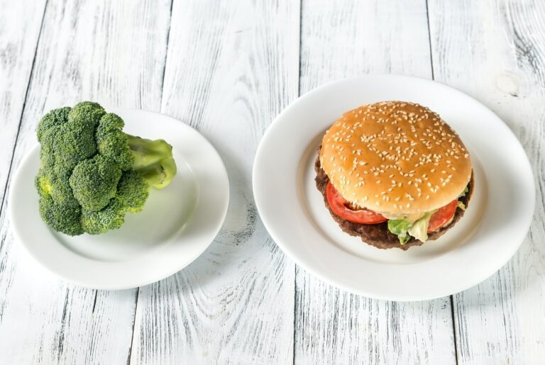 Unhealthy vs healthy food