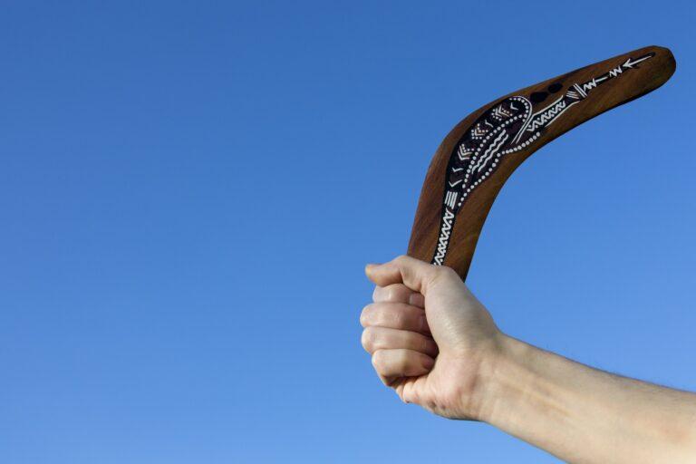 Boomerang - Back Soon - A boomerang is a throwing tool
