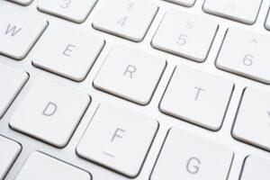 Close up keyboard button