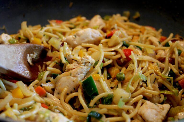 Fresh chicken noodles