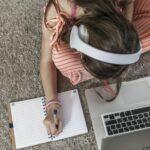 Kid Writting Something
