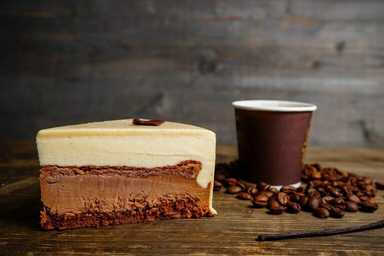 Slice of Chocolate Cake and Coffee
