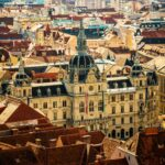 Cityscape of Graz with the Rathaus town hall and historic buildings, in Graz, Styria region, Austria