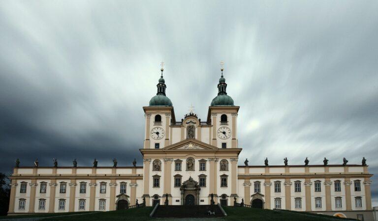 Splendid baroque basilica of Holy Hill near Olomouc (visited by