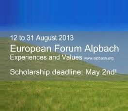 IGAS: Kako aplicirati za stipendiju za Evropski Forum Alpbach 2013?